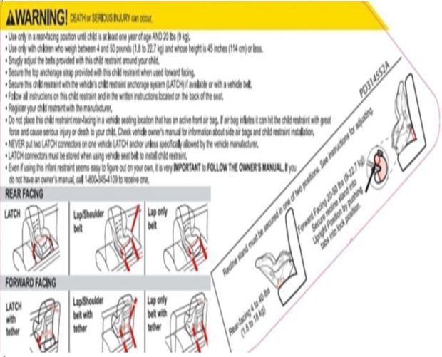 graco warning label